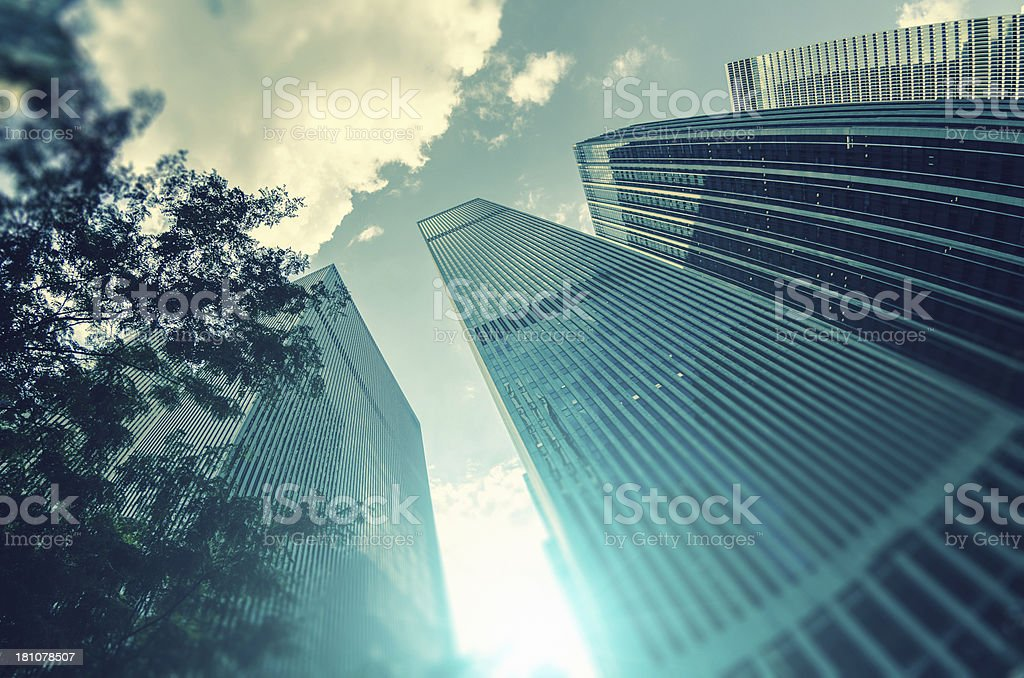 Manhattan skyscrapers royalty-free stock photo