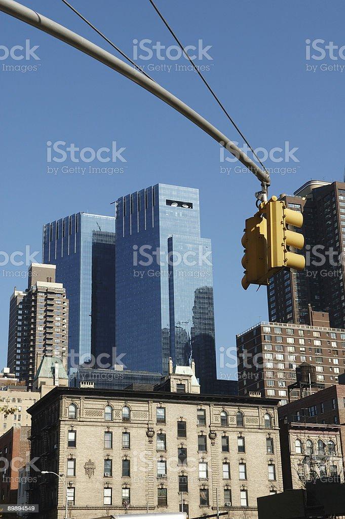 Rascacielos de manhattan foto de stock libre de derechos