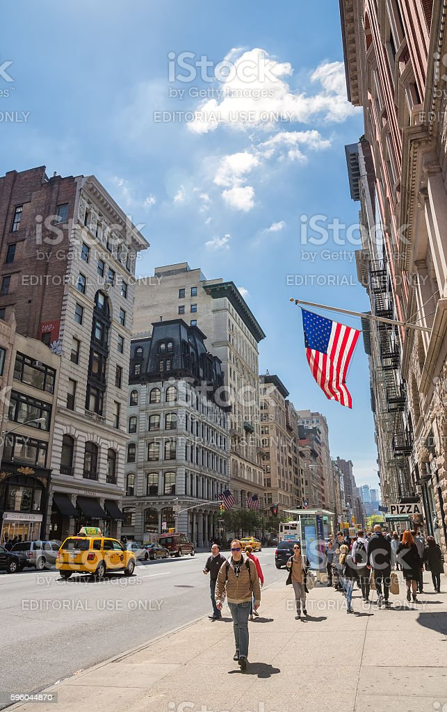 Manhattan street scene, NYC royalty-free stock photo