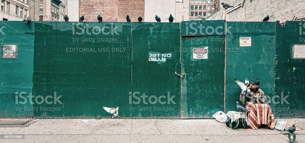 Manhattan street scene stock photo