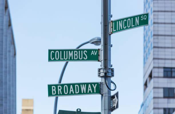 manhattan straßen namen zeichen new york city usa - straßenschild stock-fotos und bilder