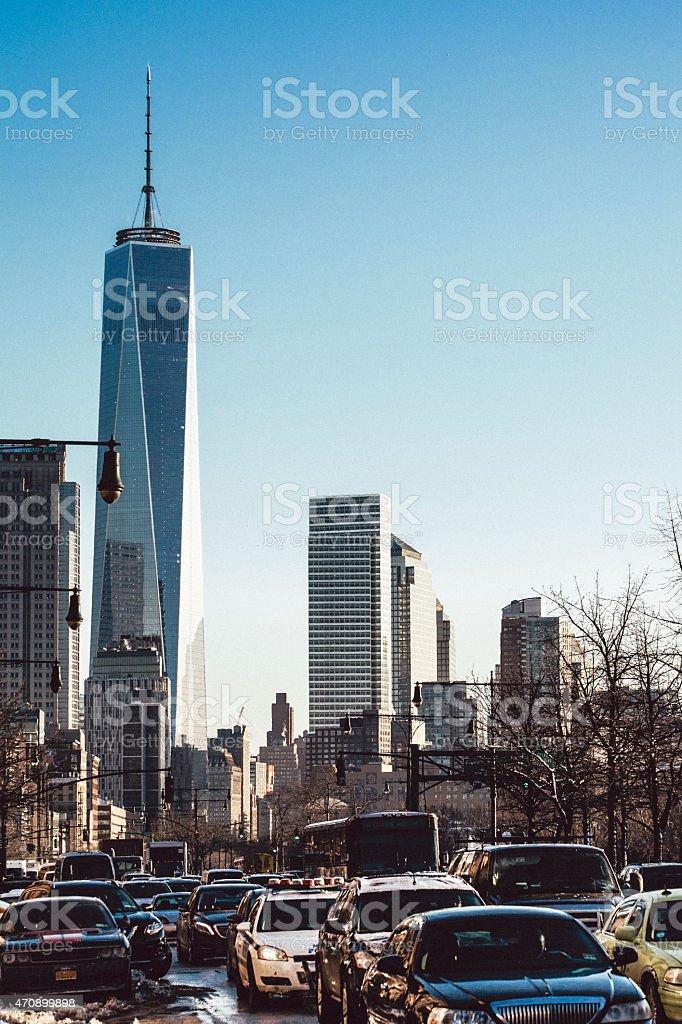 Straßen von Manhattan, winter-Verkehr. – Foto