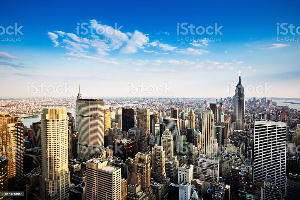 Manhattan Summer in the City stock photo