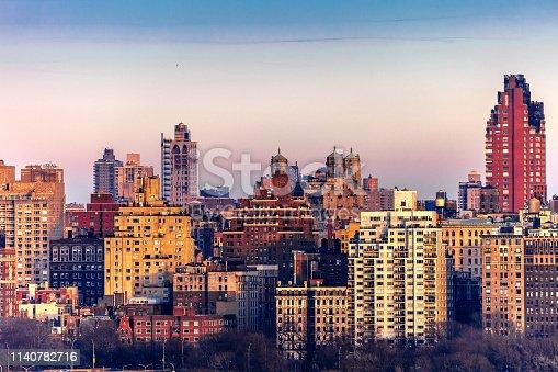 Manhattan sunset, New York, NY, USA