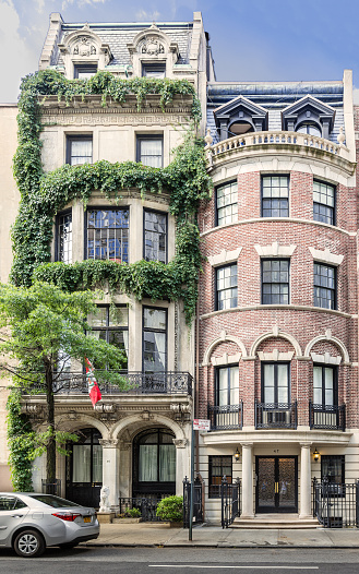 Manhattan Upper East Side Townhouses New York City Stock Photo - Download Image Now