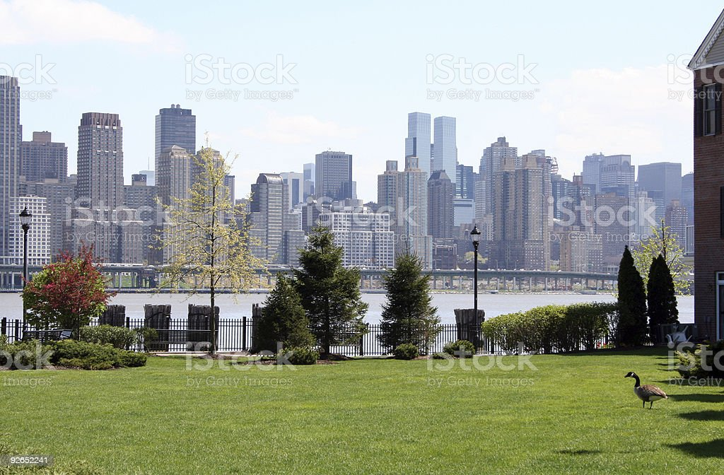 Manhattan View from Hoboken stock photo
