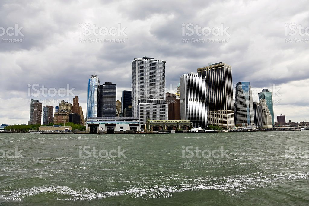 Manhattan view from the bay royalty-free stock photo