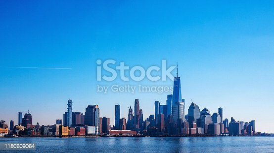 Manhattan view from NJ, New York City, USA