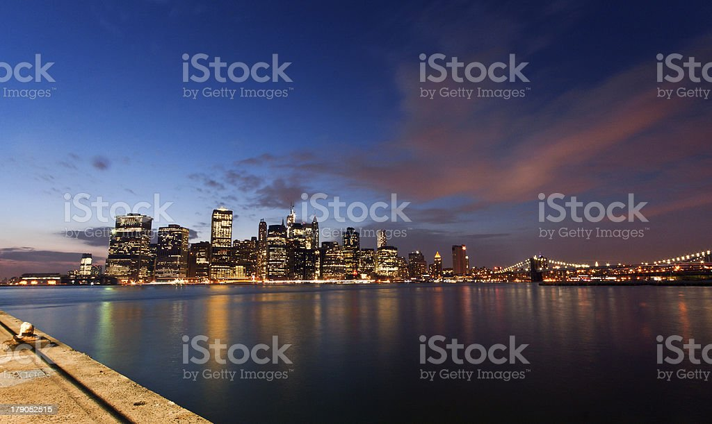 Manhattan view, New York, USA royalty-free stock photo