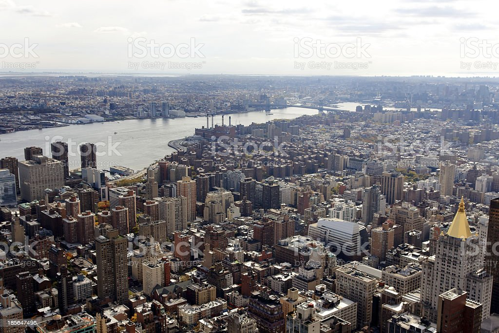 Manhattan View Towards Brooklyn royalty-free stock photo