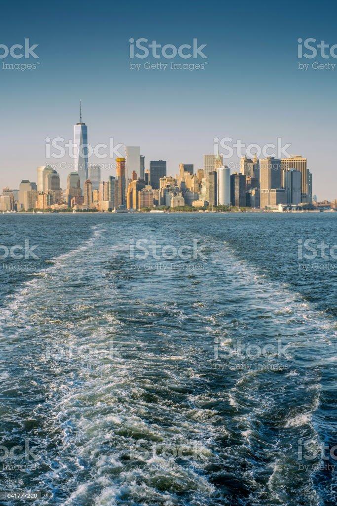 Manhattan water view stock photo