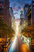Manhattanhenge, sunset at East 42nd street in NYC, Manhattan, New York City, USA