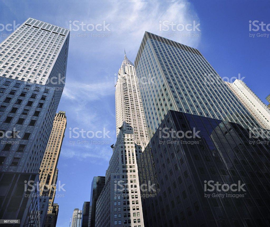 Manhattan's 42nd Street Skyscrapers royalty-free stock photo
