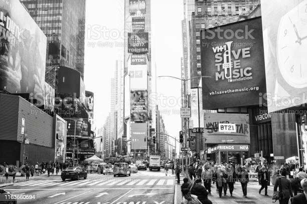 ニューヨーク市米国 2017年11月2日タイムスクエア近くの7番街の ...