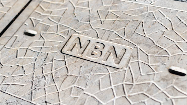 NBN manhole cover stock photo