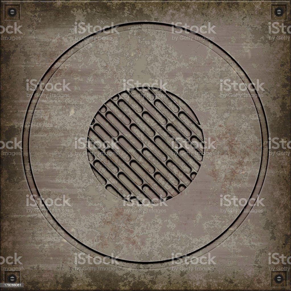 Manhole cover (Seamless texture) royalty-free stock photo