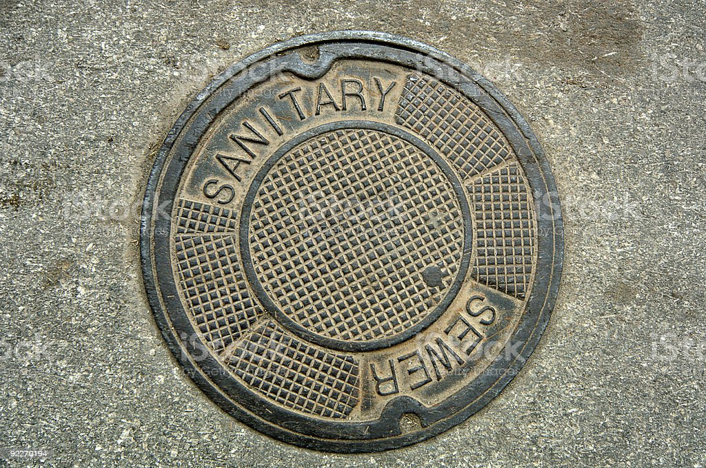 Manhole Cover stock photo