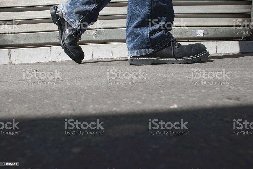Manhole point of view royalty-free stock photo