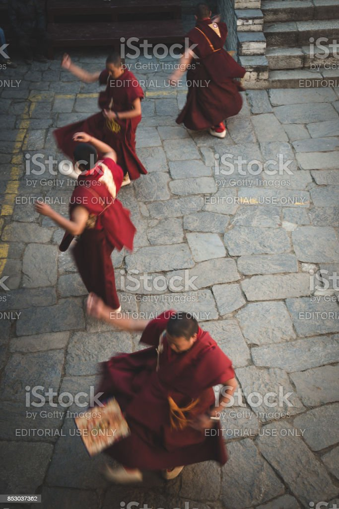 Mani Rimdu dance stock photo