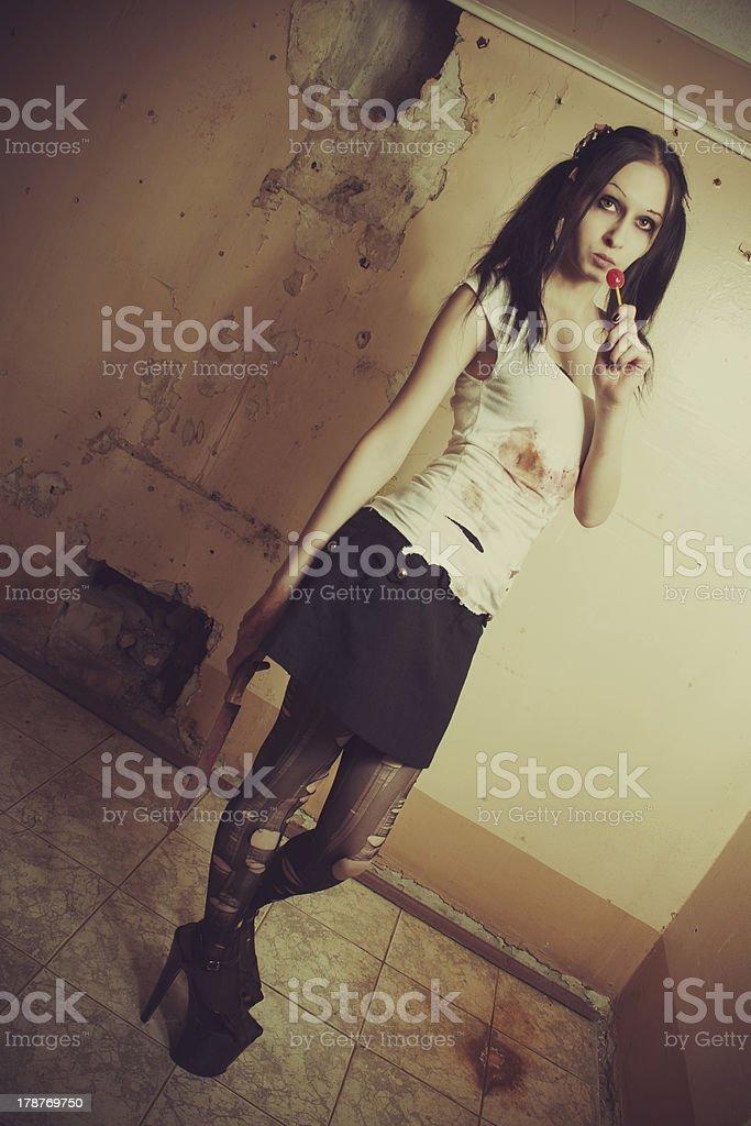 Maniac girl royalty-free stock photo