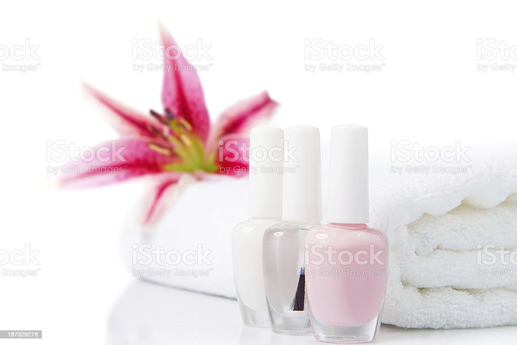 Manicure and beauty treatment royalty-free stock photo