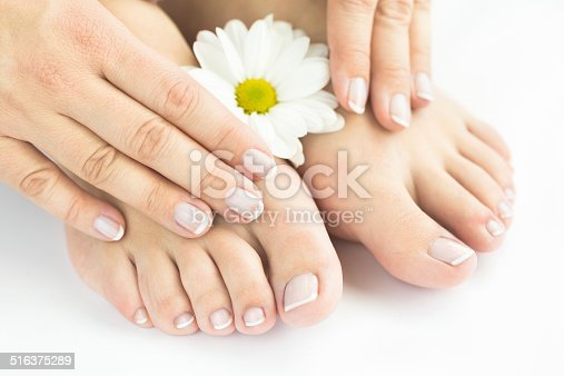 istock Manicure and pedicure, natural nails 516375289