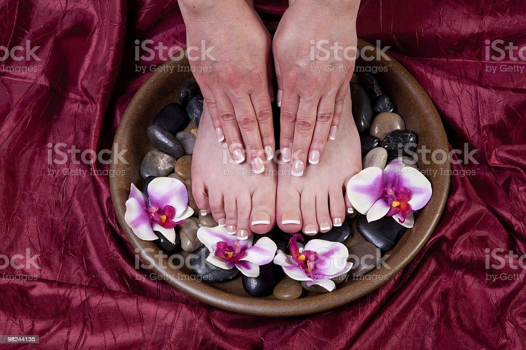 Manicure e pedicure foto stock royalty-free