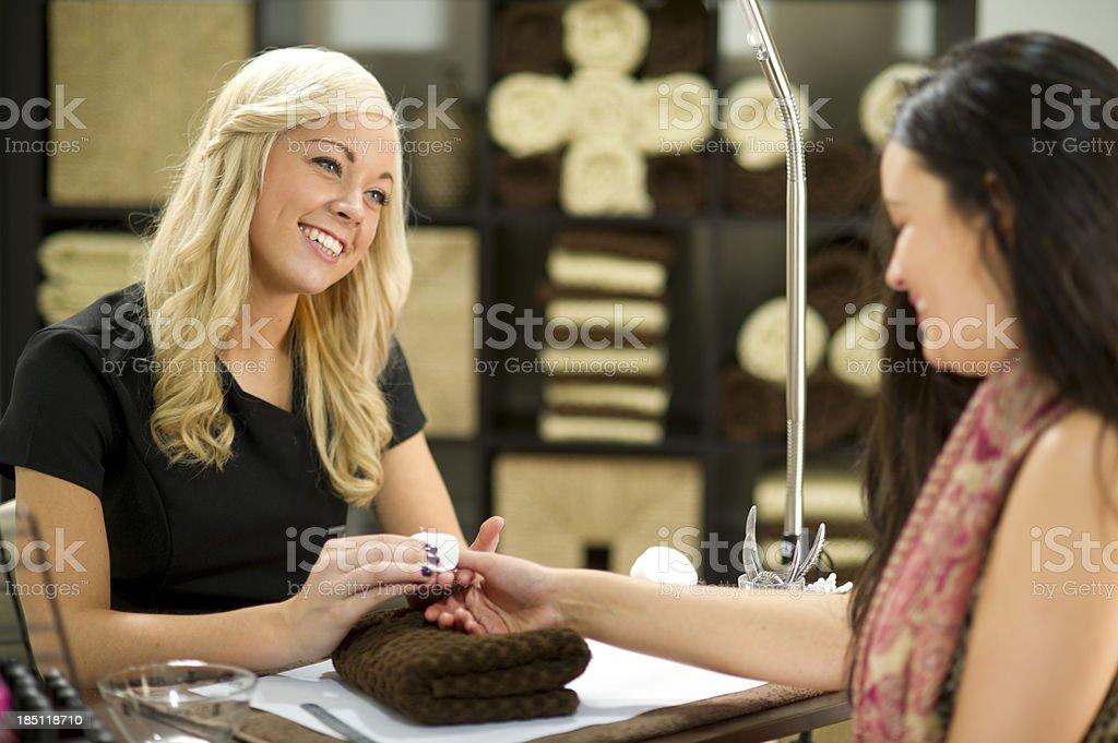 manicure at nail salon royalty-free stock photo