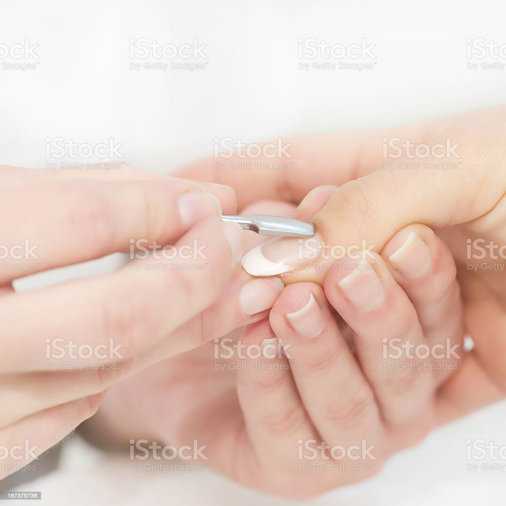 Manicure close-up royalty-free stock photo