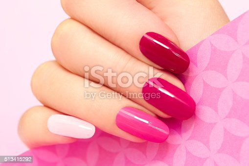 istock Manicure in pink. 513415292