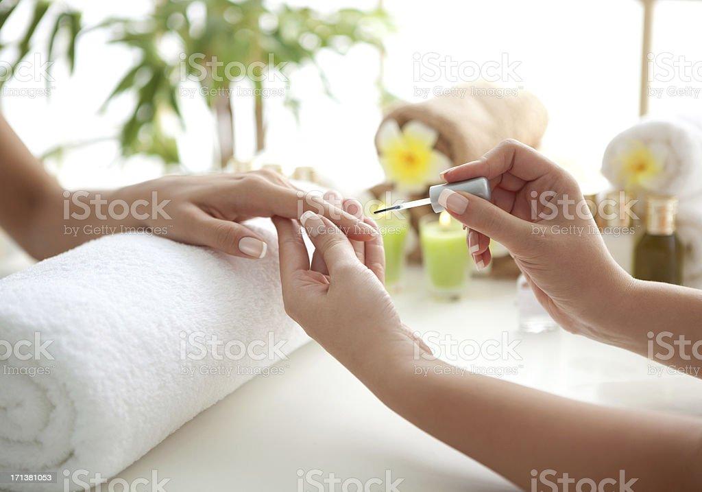 Manicure. stock photo