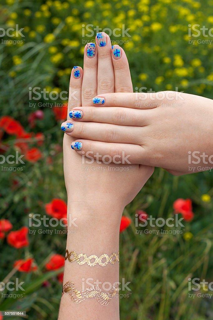 manicure stock photo