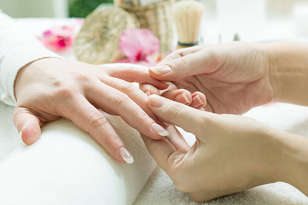 Manicure preparation stock photo