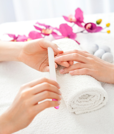 Manicure Treatment stock photo