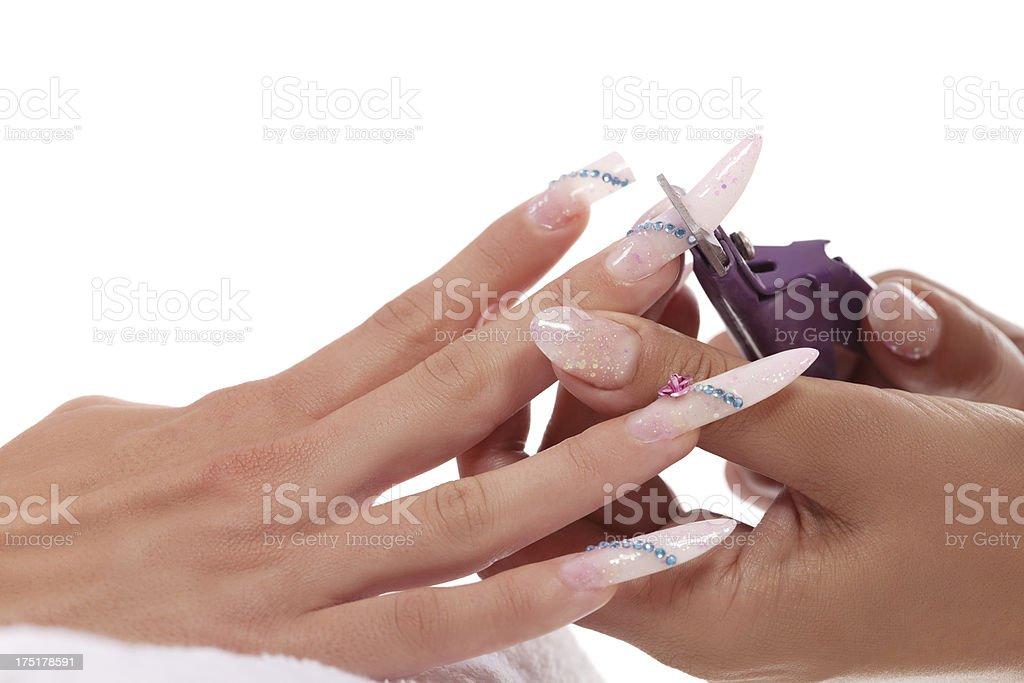 Manicure treatment royalty-free stock photo