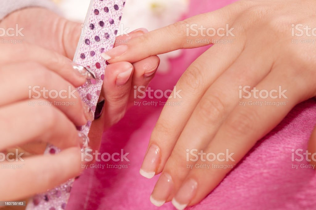Manicure treatment royalty-free stock photo