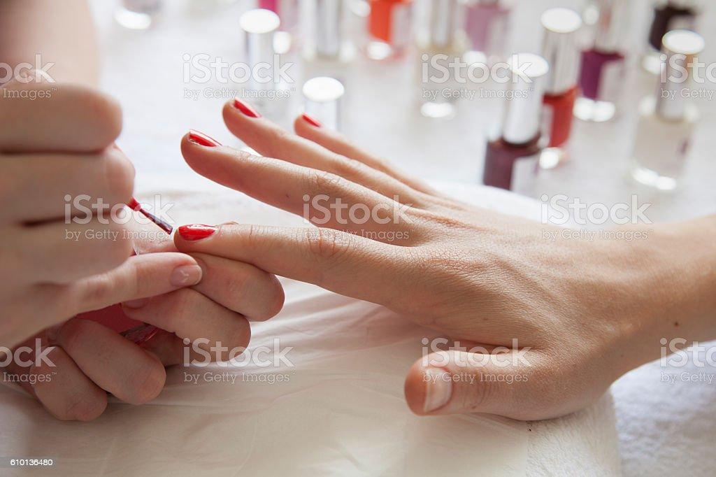 Manicure treatment stock photo