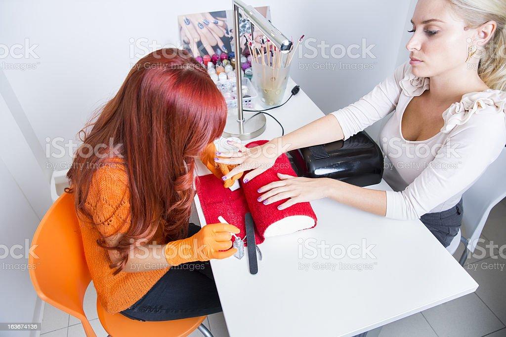 Manicure treatment...nail art royalty-free stock photo