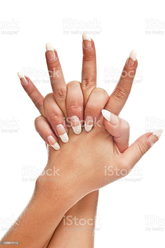 Manicured nails royalty-free stock photo