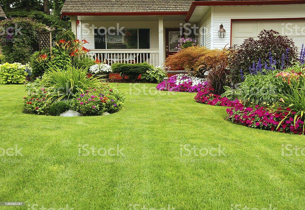 Manicured Yard royalty-free stock photo