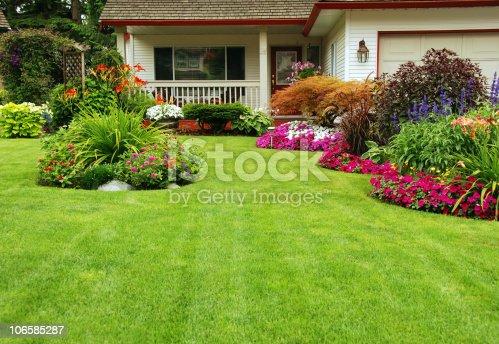istock Manicured Yard 106585287