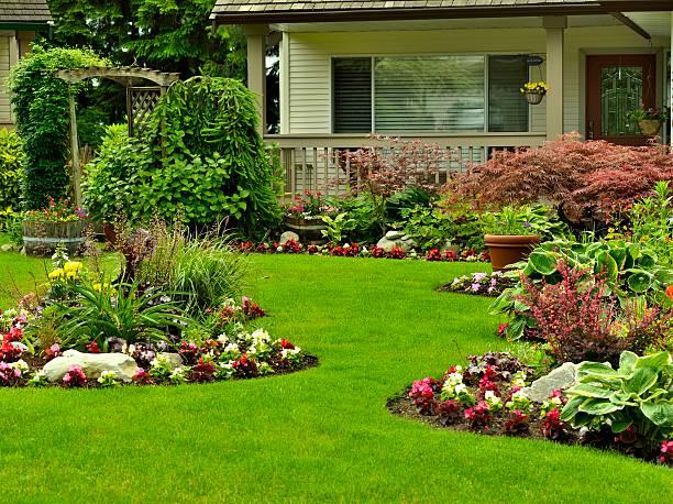 Hermosos jardín - foto de stock