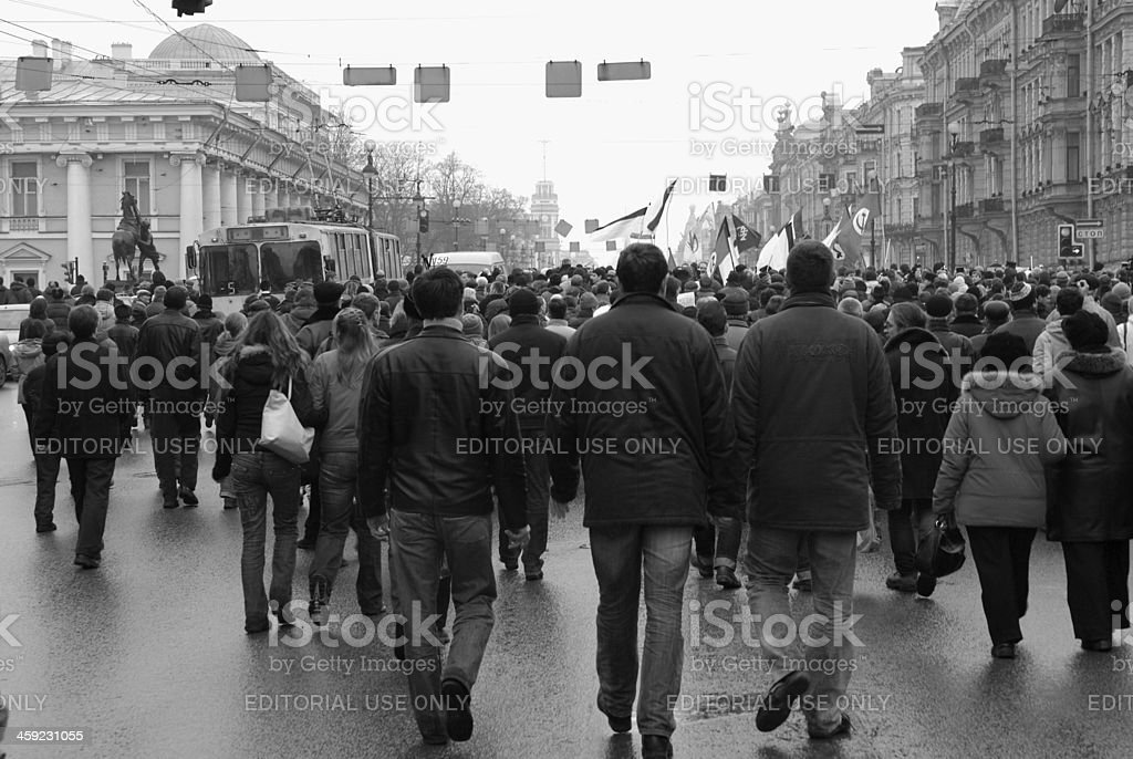 Manifestants royalty-free stock photo