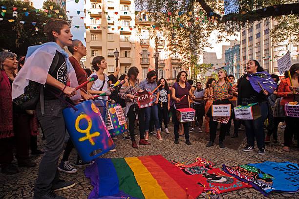 manifestación de las mujeres homosexuales - civil rights fotografías e imágenes de stock