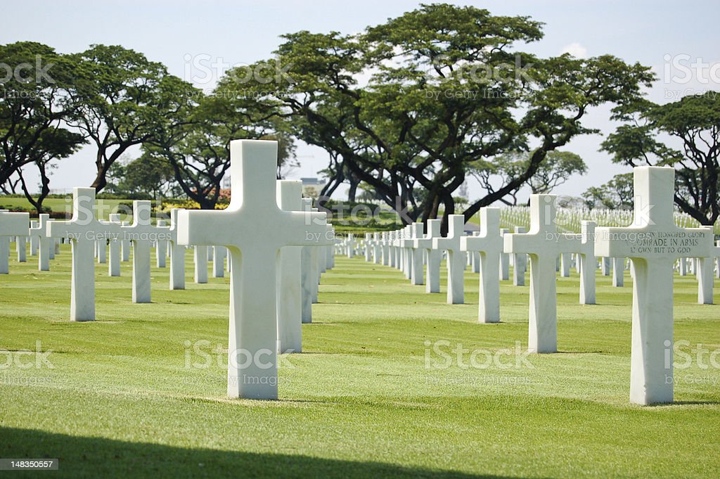 Manila American Cemetery and Memorial royalty-free stock photo
