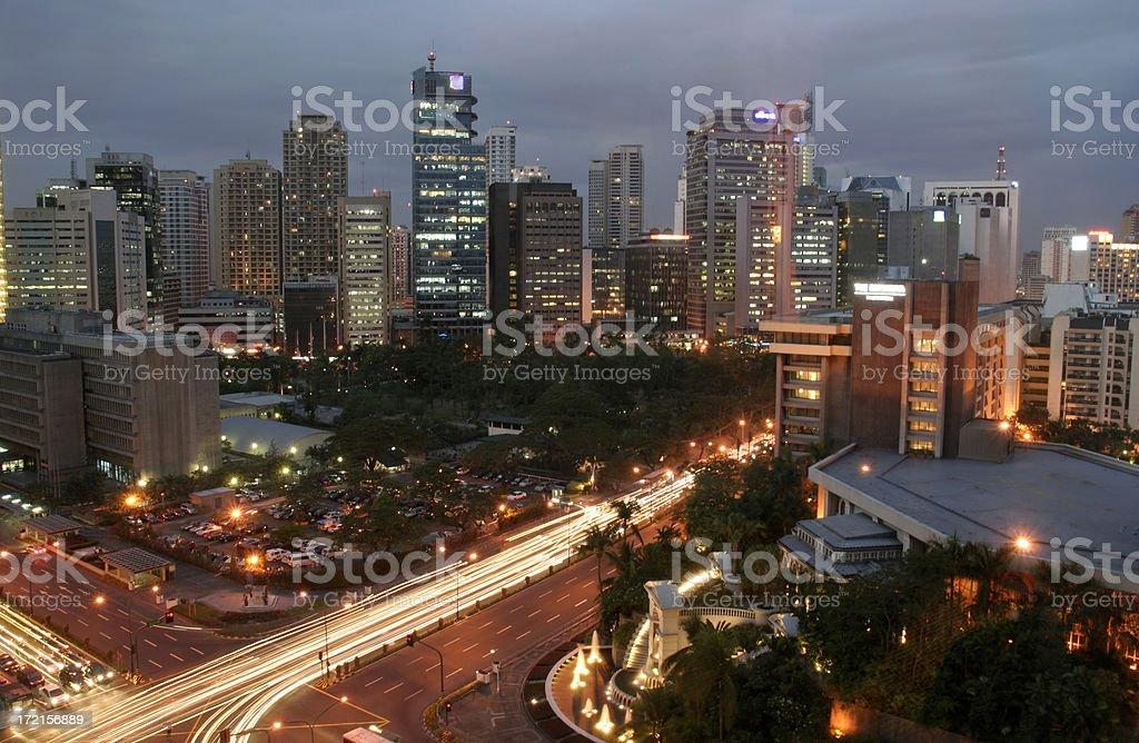 Manila at Night royalty-free stock photo