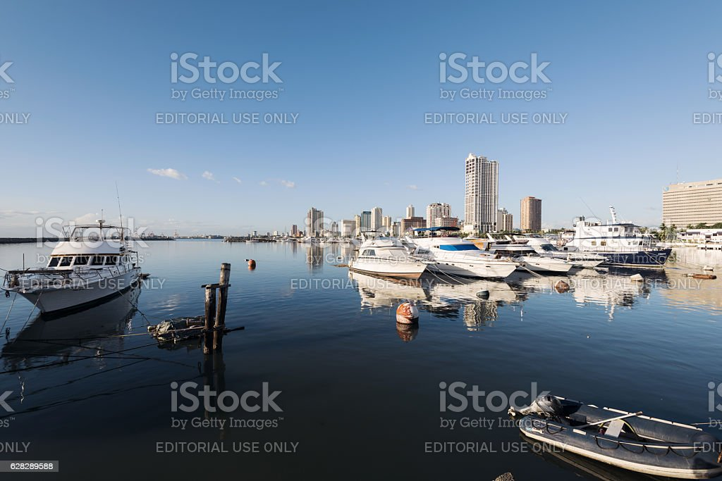 Manila Bay, Philippines. stock photo