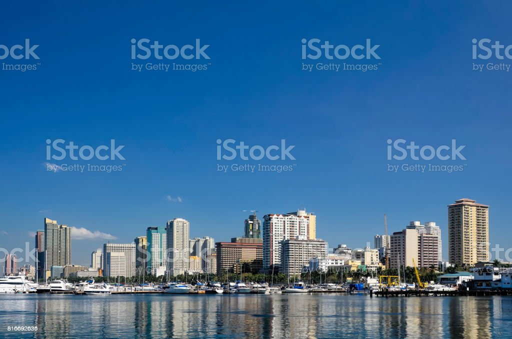 Manila Bay Skyline stock photo
