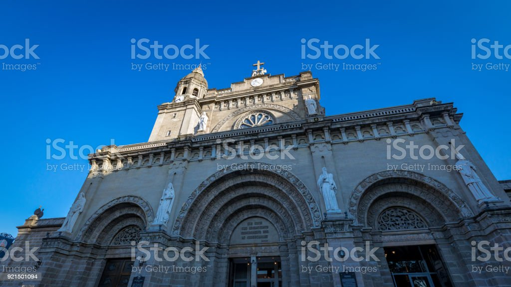 Manila Cathedral at the Intramuros area stock photo