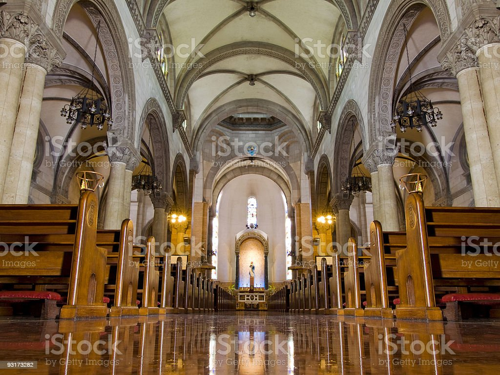 Manila Cathedral in Intramuros royalty-free stock photo